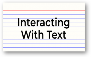 Interacting With Text